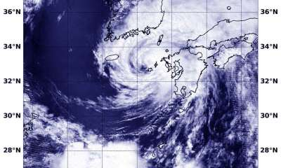 "alt=""NASA finds Typhoon Prapiroon affecting Korean Peninsula, southern Japan"""