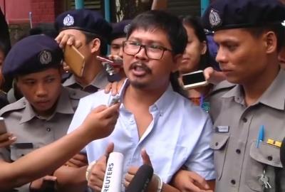 """alt=""""Myanmar court files secrets act charges against Reuters reporters"""""""