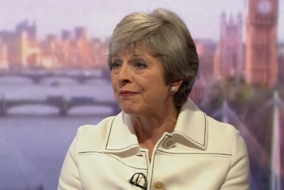 """alt=""""Theresa May: Trump told me to sue the EU"""""""