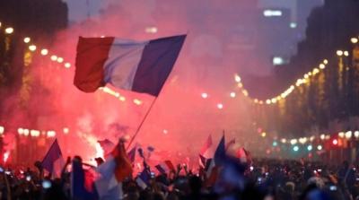 "alt=""France wins 2nd World Cup title, beats Croatia 4-2"""