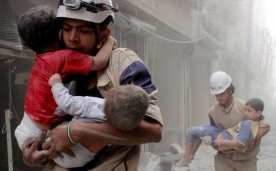 "alt=""Syrian White Helmets evacuated to Jordan through Israel"""