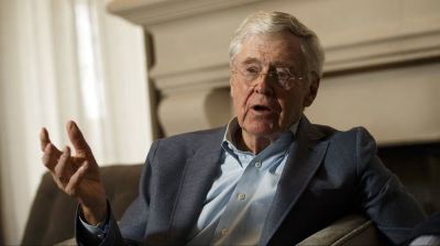 "alt=""Trump lashes out at Koch brothers after their political network slams White House"""