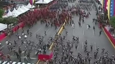 "alt=""Venezuela President Maduro survives 'drone assassination attempt'"""