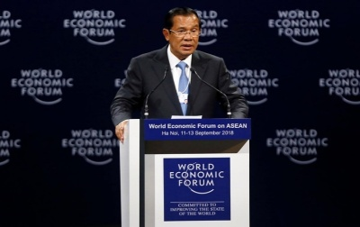"alt=""Cambodia leader tells world to stay out of Indochina politics"""
