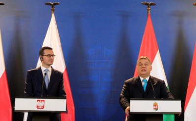"alt=""Poland says it will block any EU sanctions against Hungary"""