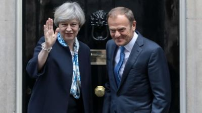 "alt=""Needs more work: EU criticizes May's Brexit plan"""