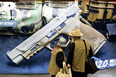 "alt=""Cops, Priests Urge Smith & Wesson to Make Guns Safer"""