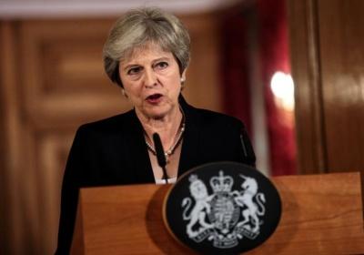 "alt=""May challenges EU as Brexit talks hit 'impasse', sterling tumbles"""