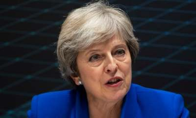 """alt=""""No-deal Brexit better than Canada-style deal, says Theresa May"""""""