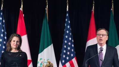 "alt=""Canada, U.S. have reached a NAFTA deal - now called the USMCA"""
