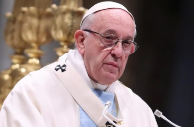"alt=""Pope bemoans disjointed world, praises unity over diversity"""