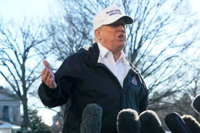 "alt=""Trump says he will 'probably' declare national emergency as he heads to border amid shutdown"""