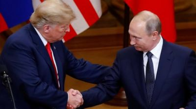 "alt=""Trump denies hiding detail of Putin summit talks from staff"""