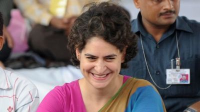 "alt=""Priyanka Gandhi launches political career ahead of key India polls"""