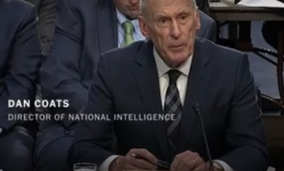 "alt=""On North Korea and Iran, Intelligence Chiefs Contradict Trump"""