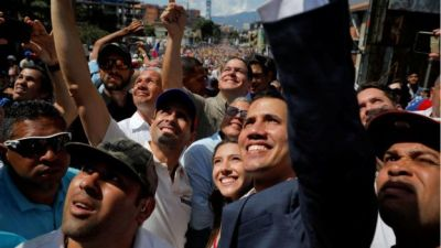 "alt=""Venezuela crisis: Rival protests held in Caracas"""