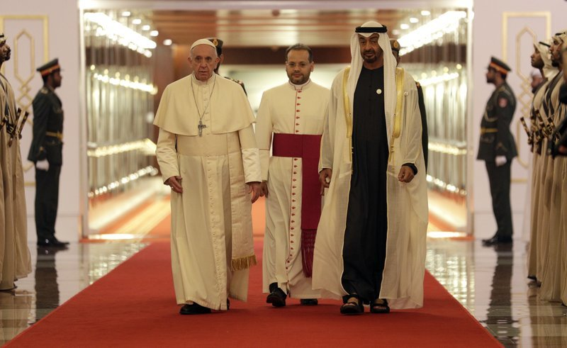 "alt=""Pope in UAE for historic trip after call for Yemen relief"""