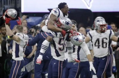"alt=""Superbowl 2019: New England Patriots beat Los Angeles Rams 13-3"""