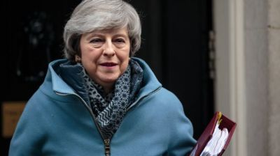 """alt=""""Brexit must not be frustrated, Theresa May vows"""""""