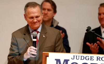 """alt=""""Alabama's Roy Moore, undone by allegations, considers new Senate run"""""""