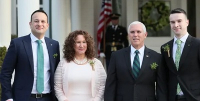"""alt=""""Irish PM brings partner to meet Pence & delivers pointed remarks on sexuality"""""""