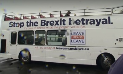 """alt=""""Arch-eurosceptic Farage leads march over Brexit betrayal"""""""