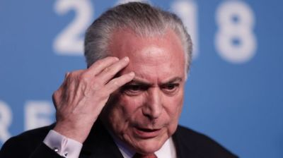 "alt=""Michel Temer: Brazil ex-president arrested in corruption probe"""
