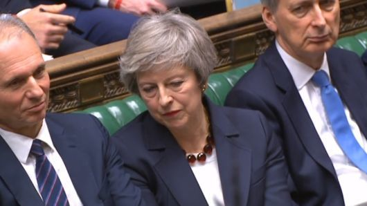 """alt=""""Theresa May loses crucial vote on her Brexit deal for a third time"""""""