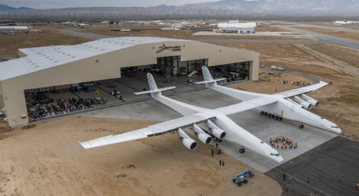 """alt=""""Stratolaunch, the world's largest airplane & built to launch rockets, takes first flight"""""""