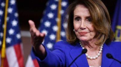 """alt=""""US Speaker Nancy Pelosi warns against weakening peace deal"""""""