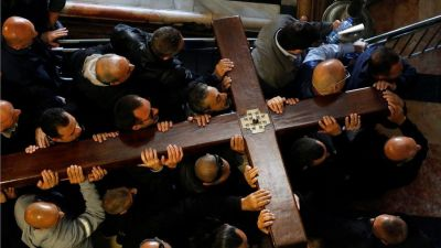 """alt=""""Striking ceremonies have taken place as Christians marked Good Friday"""""""