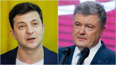 "alt=""Ukraine's Poroshenko concedes defeat to comedian rival Zelenskiy in presidential vote"""
