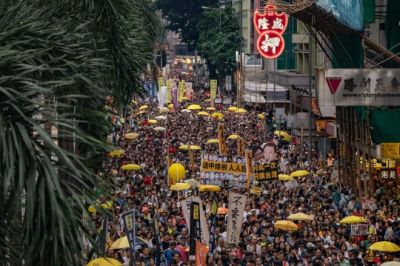 """alt=""""Hong Kong: Thousands protest against China extradition law"""""""