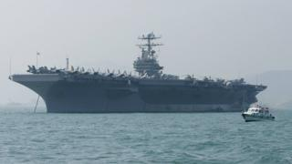 """alt=""""US sends aircraft carrier and bomber task force to 'warn Iran'"""""""