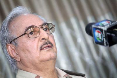 """alt=""""Libya's Haftar rules out Tripoli ceasefire, dismisses U.N.-led talks"""""""
