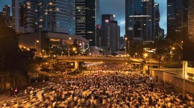 """alt=""""Hong Kong Protests Feed Toxic Brew for Luxury"""""""