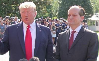 "alt=""US Labour Secretary Alex Acosta resigns over Epstein case"""