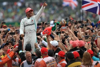 """alt=""""Lewis Hamilton says British GP win is greatest moment for any home driver"""""""
