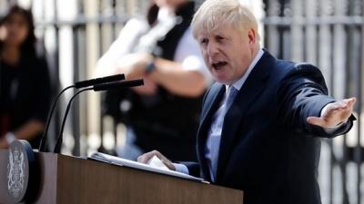 "alt=""Boris Johnson overhauls cabinet on first day as PM"""