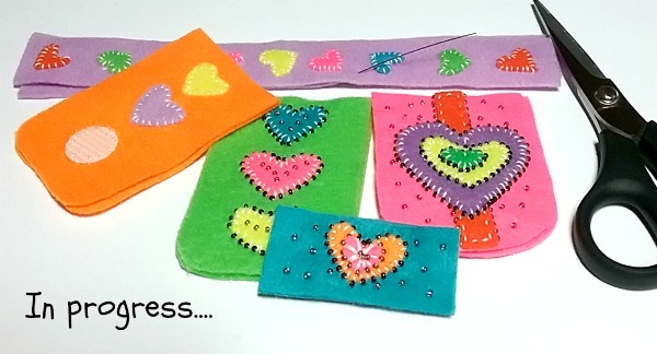 MY RAINBOW HEARTS FELTED CASE