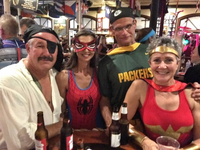 Goombay Fest Key West with Heros and Villians