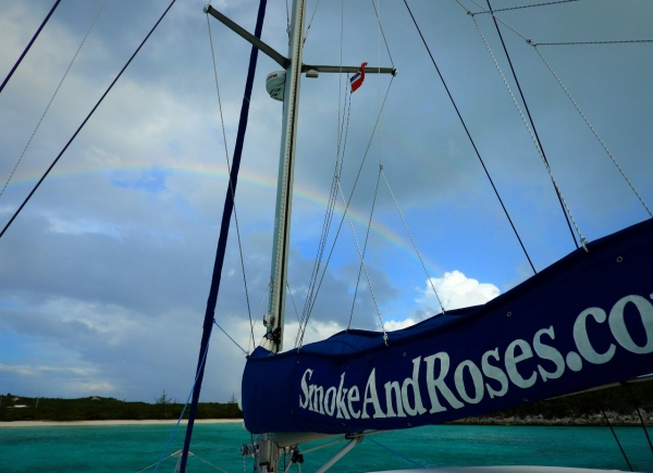 Rainbow at Honeymoon Bay Anchorage
