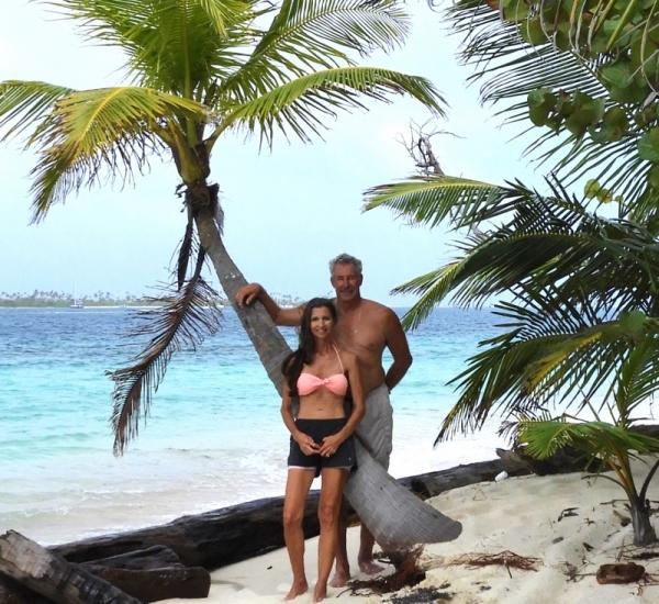 Dan & Agnes in the San Blas Islands