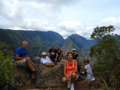 Dan, Agnes and Aranui Crew on Cap Noir