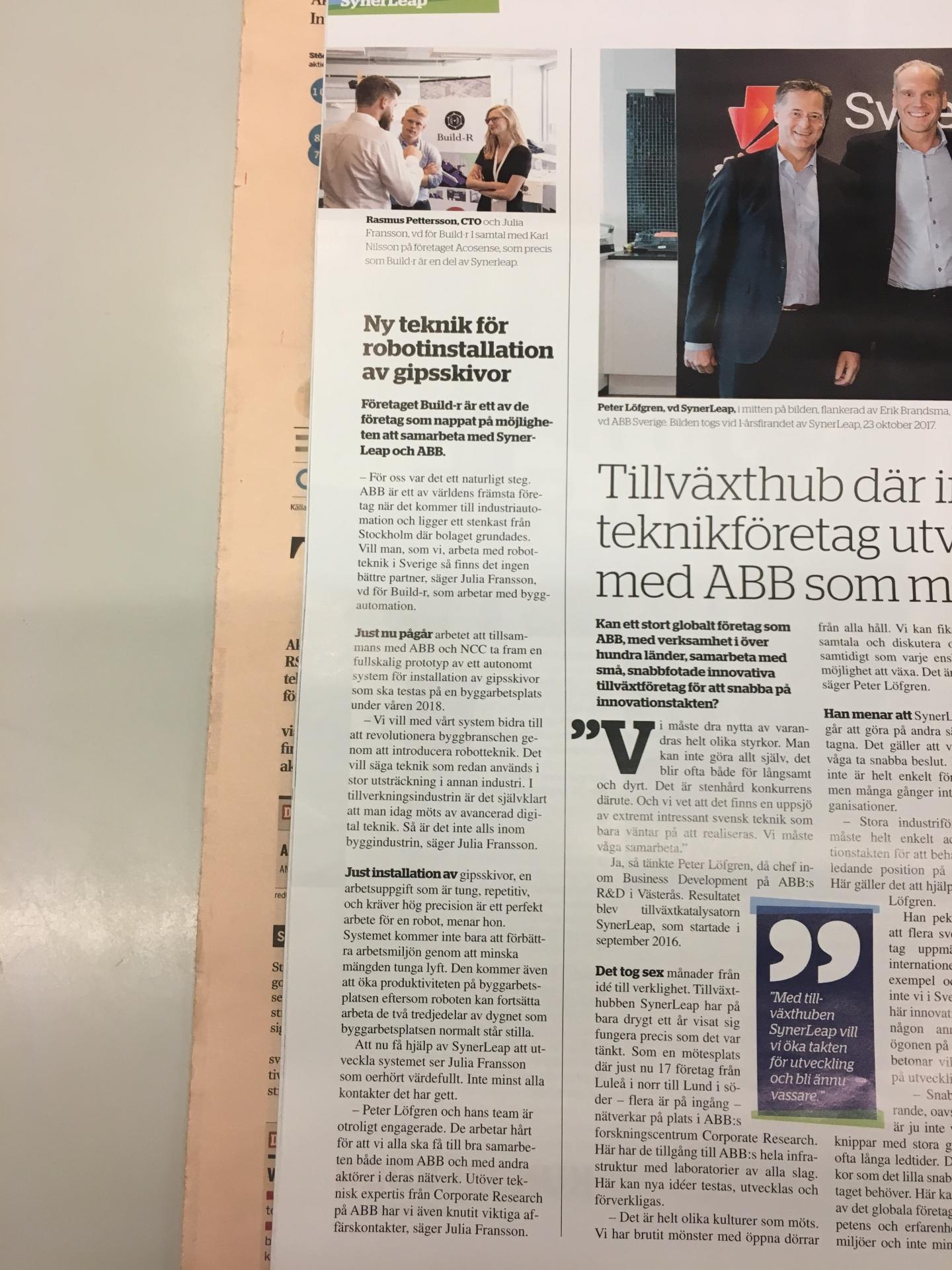 Build-r in Dagens Industri