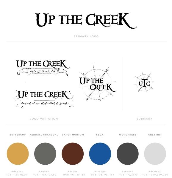 Up the Creek Brand Board