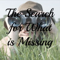 The Search for What is Missing