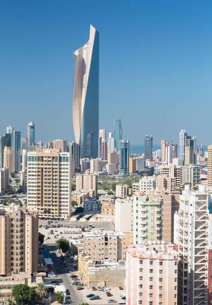 صورة علوية لمدينة الكويت