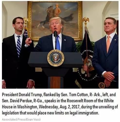 最严苛移民议案出炉!大幅度减少基于家庭的合法移民,取消绿卡抽签。