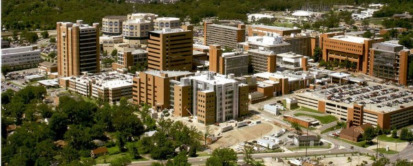 Breathtaking aerial view of UAMS campus